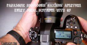 Panasonic 100-400mm max aperture f-stops