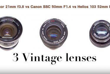 Soligor 21mm f3.8 vs Canon SSC 50mm F1.4 vs Helios 103 52mm F1.8