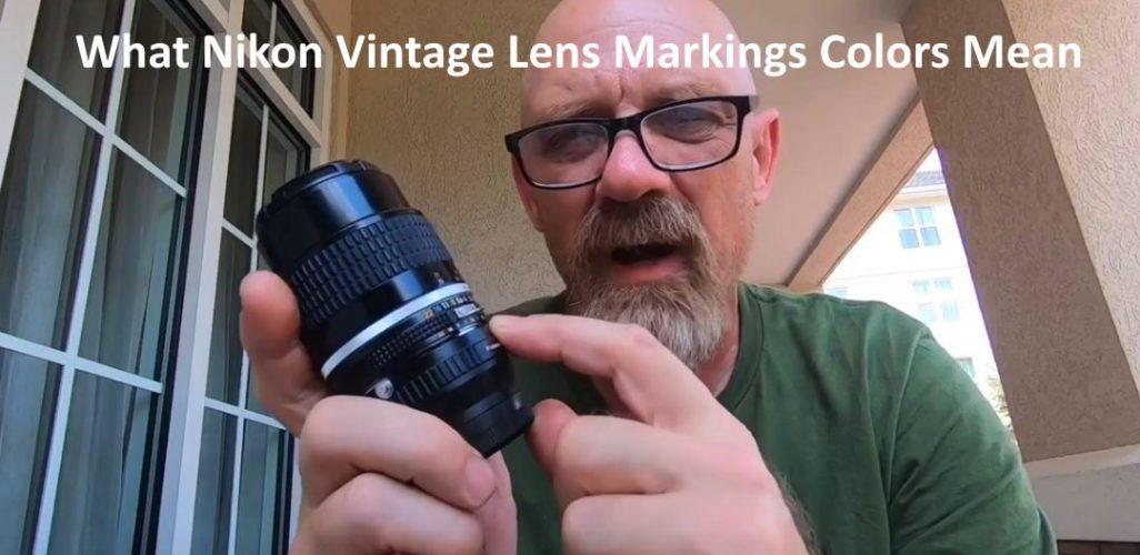 Nikon Vintage Lens Markings colors Mean