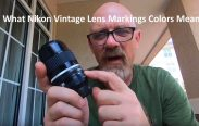 Nikon Vintage Lens Markings colors Mean