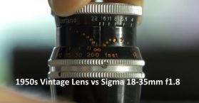 1950s Vintage Lens vs Sigma 18-35mm f1.8 sharpness test