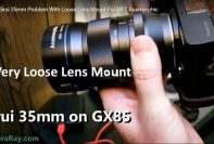 Sirui 35mm loose lens mount problem anamorphic