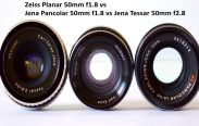 Zeiss Planar 50mm f1.8 vs Zeiss Jena Pancolar 50mm f1.8 vs Zeiss Jena Tessar 50mm f2.8