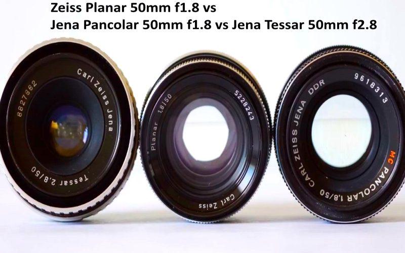 Zeiss Planar 50mm f1.8 vs Zeiss Jena Pancolar 50mm f1.8 vs Zeiss Jena Tessar 50mm f2.8